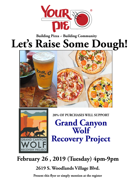 GCWRP Flyer for Your Pie benefit