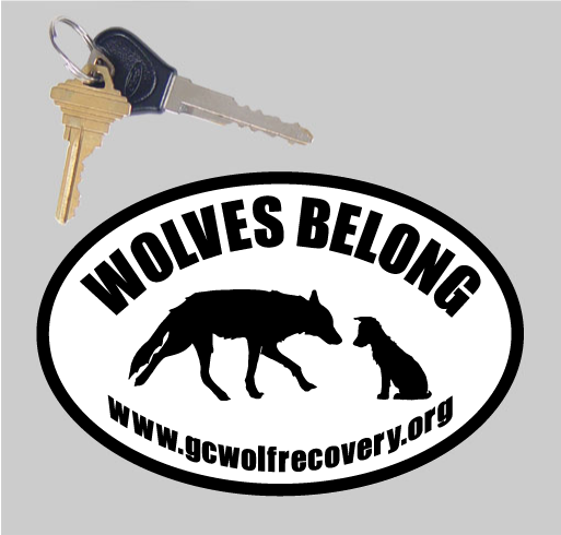 Wolves Belong oval sticker