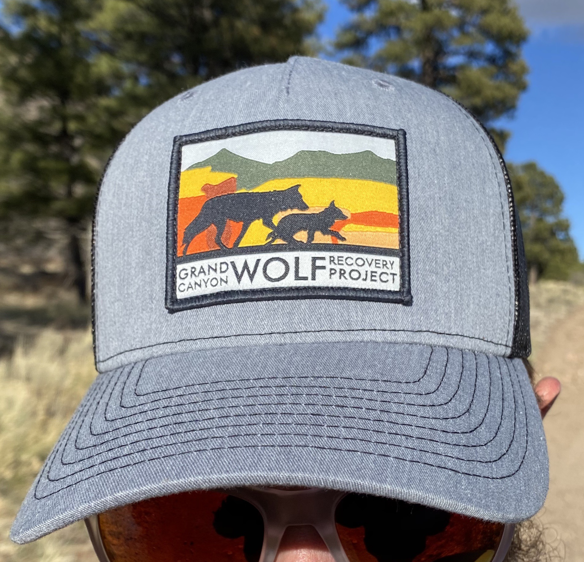 GCWRP logo gray black trucker hat