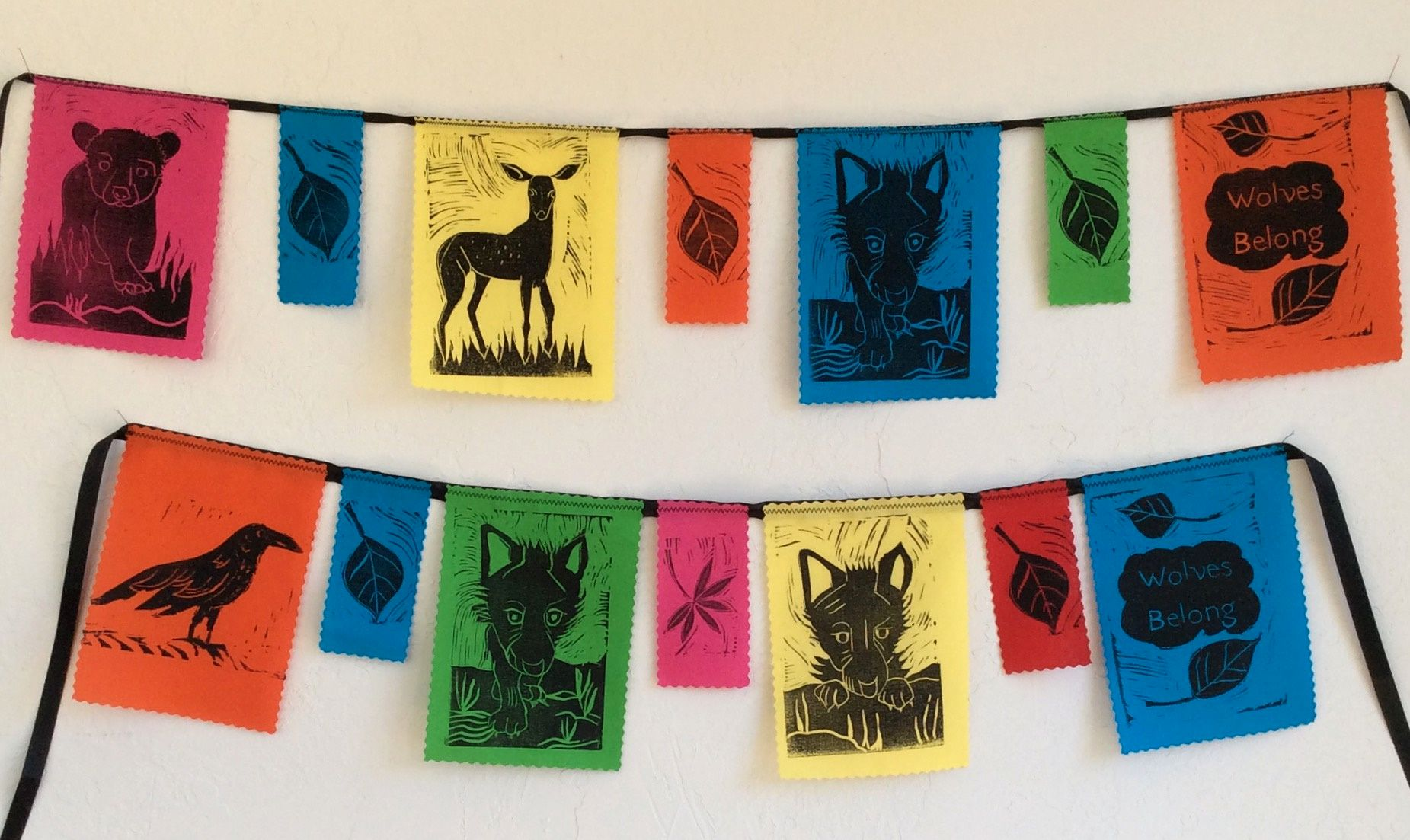 wolf prayer flags